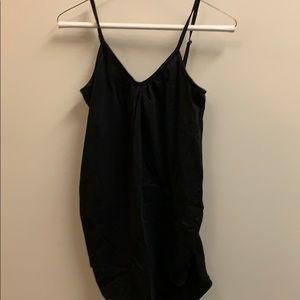 Black maternity camisole tank
